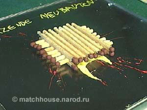 6 - house made from matches