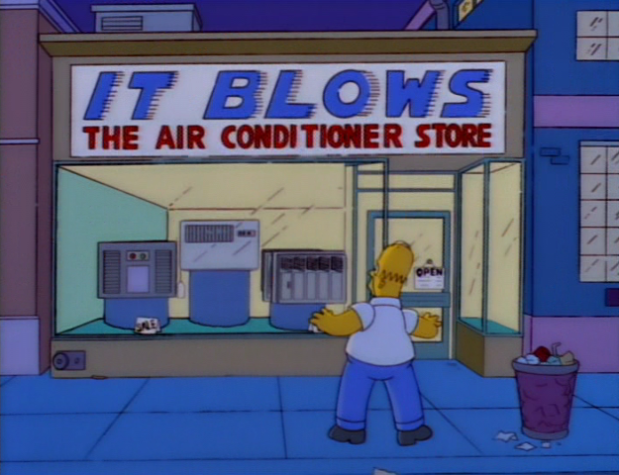 619px it blows - funny signs from the simpsons
