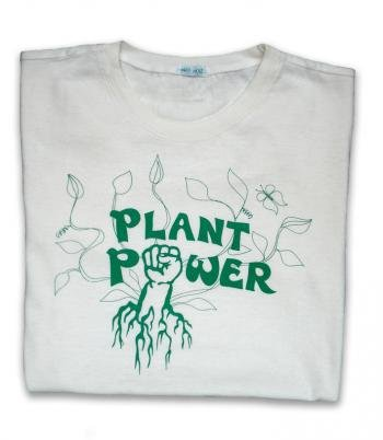 plant power bamboo cotton tshirt natural image