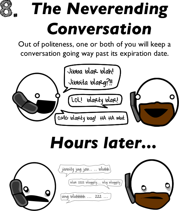 8 - 10 reasons to avoid talking to people on the phone.