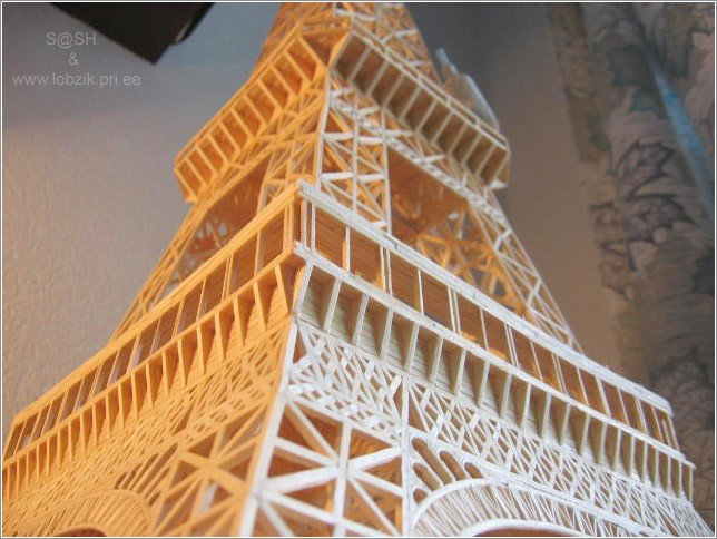 8 - eiffel tower made of matches