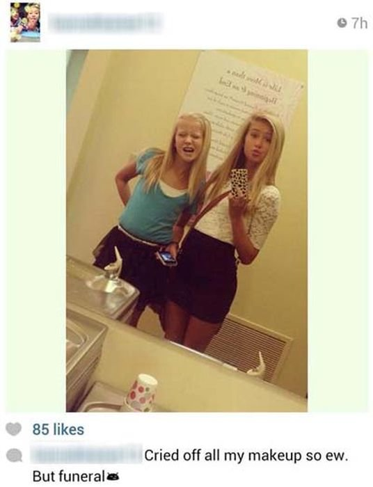 8 - poorly timed selfies...