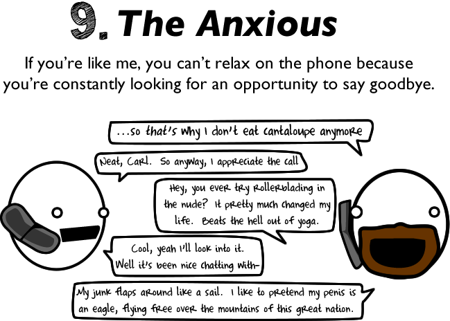 9 - 10 reasons to avoid talking to people on the phone.