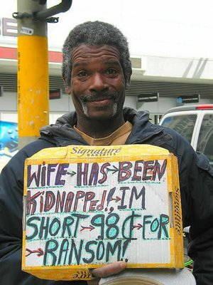 9 - homeless people with funny signs