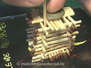 9 - house made from matches