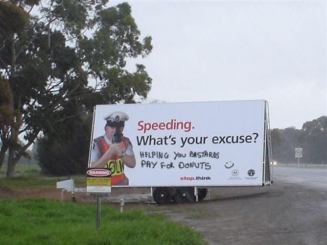 933 - speeding, what's your excuse?