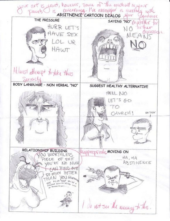 abstinence - you laugh you lose - comic style