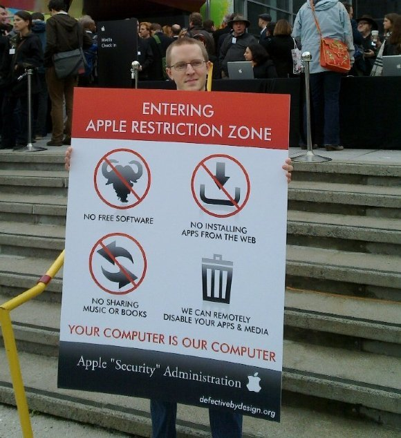 aple - you are now entering an apple restriction zone!