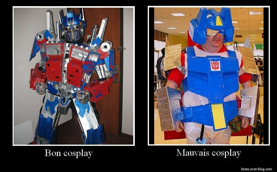 bcmctransformers - good cosplay / bad cosplay