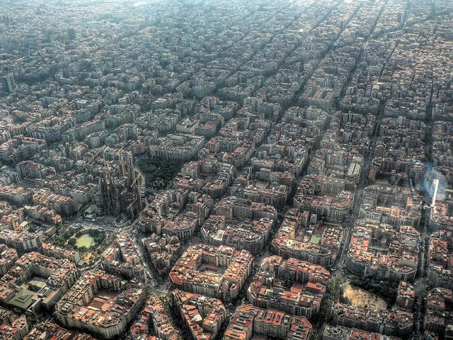 barcelona - amazing birds eye view
