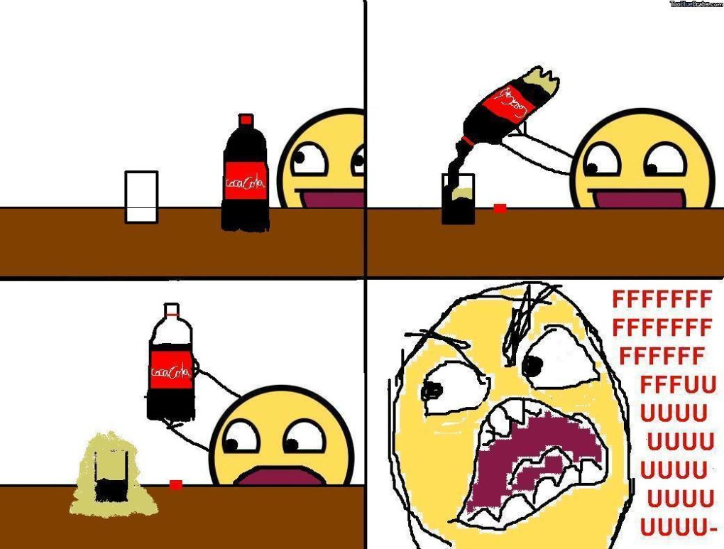 coke - don't you hate it when this happens?