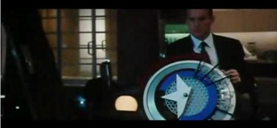 cap2 - captain america shield and thor's hammer in iron man 2