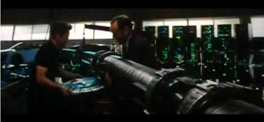 cap4 - captain america shield and thor's hammer in iron man 2