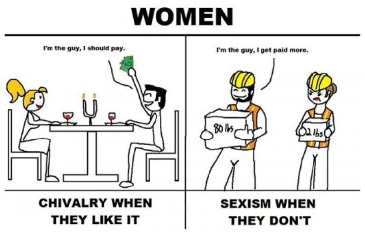 chivalry - the difference between chivalry and sexism against women