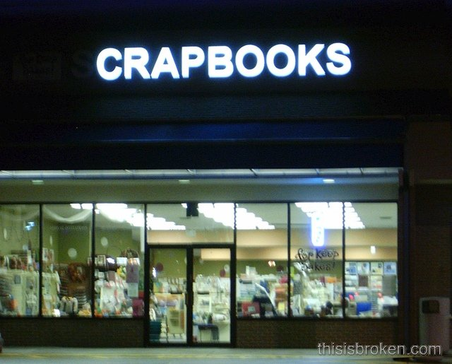 crapbooks - funny store names/signs