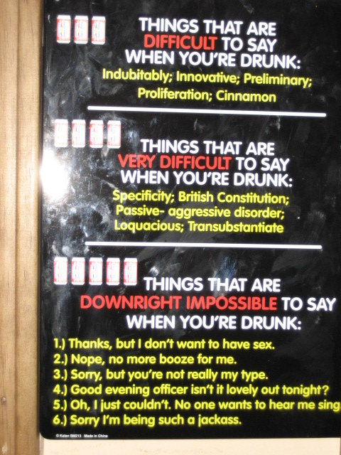drunk - have a few beers and try saying these