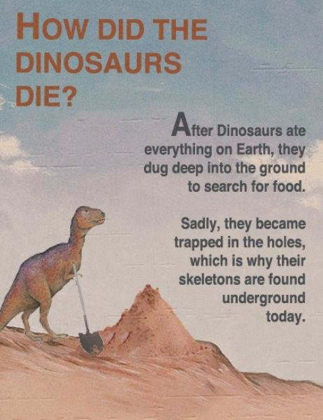 fakedinos1 - how the dinosaurs really died