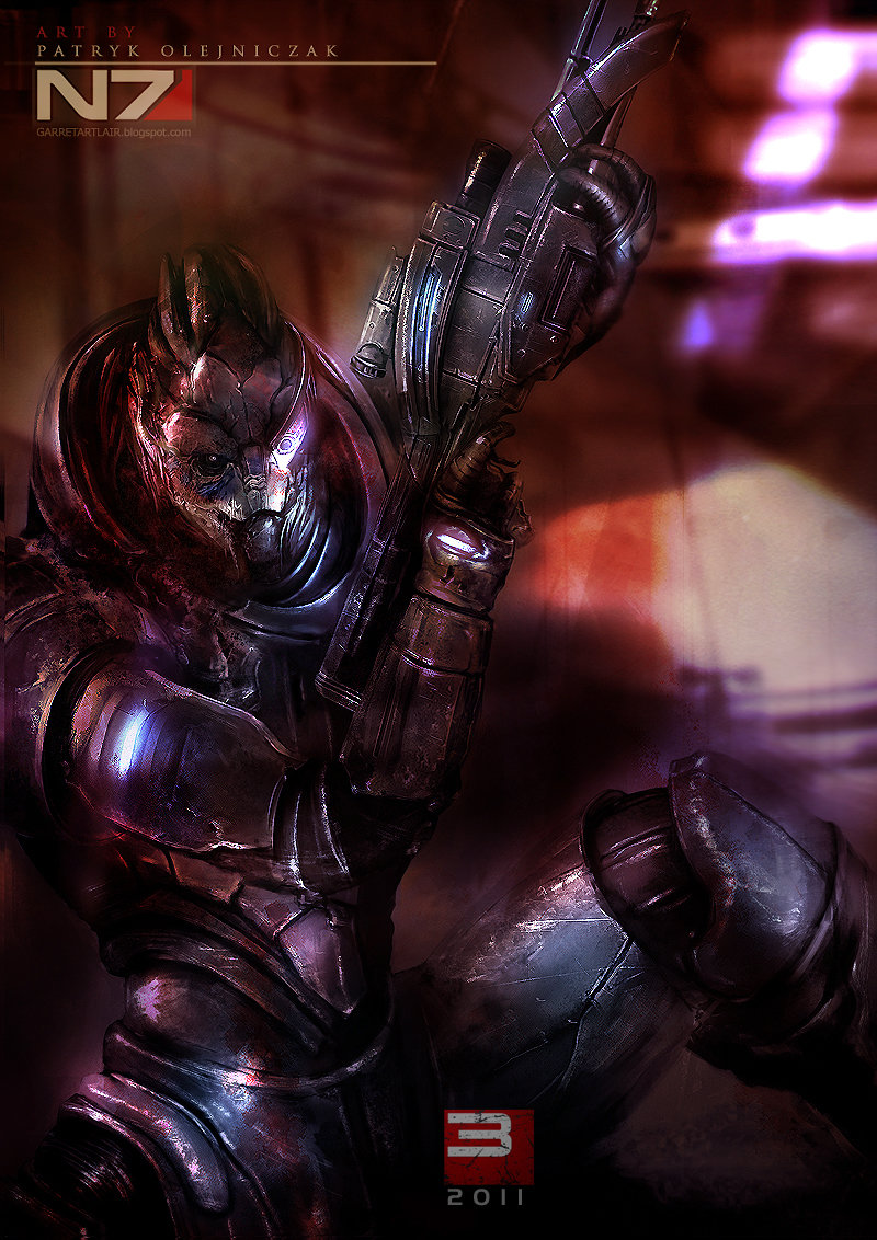 garrus - incredible mass effect fan art