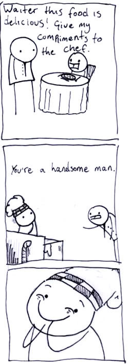 handsome - you laugh you lose - comic style