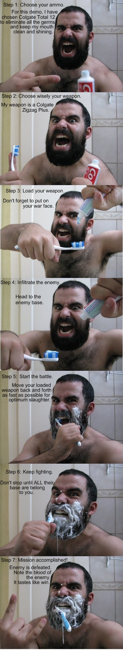 hiyrh - how to brush your teeth like a spartan