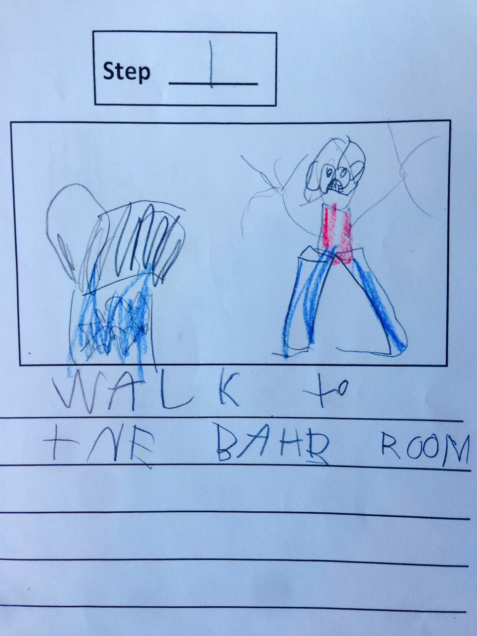 """iejonou - one kid made a """"how to poop"""" instructional booklet in kindergarten today"""