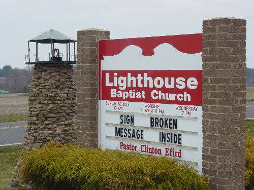 lighthouse - funny church signs