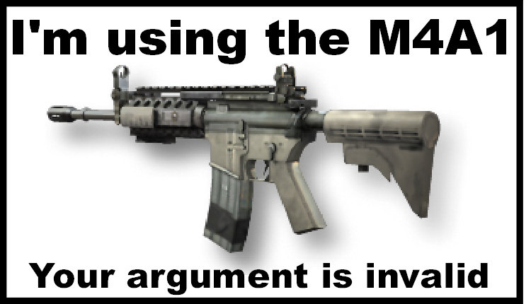 m4a1 - call of duty youre argument is invalid