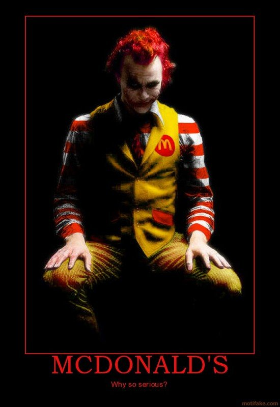 mcdonaldsdarknightjoker - what is wrong with some people?