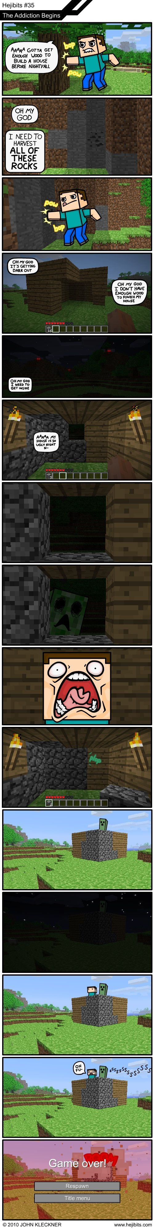 minecraft - has this ever happend to you while playing minecraft
