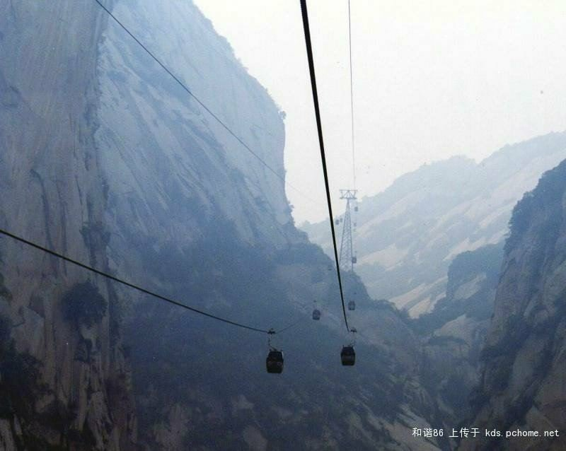 mountains - mount hua tea house - would risk your life for a cup of tea?