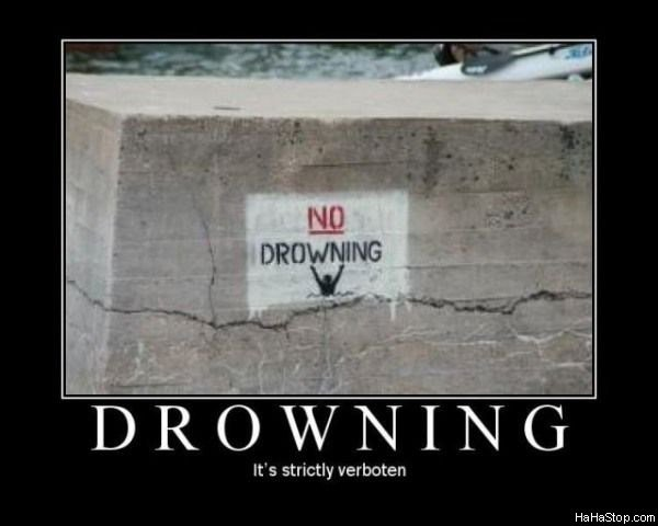 no drowning - best motivational posters