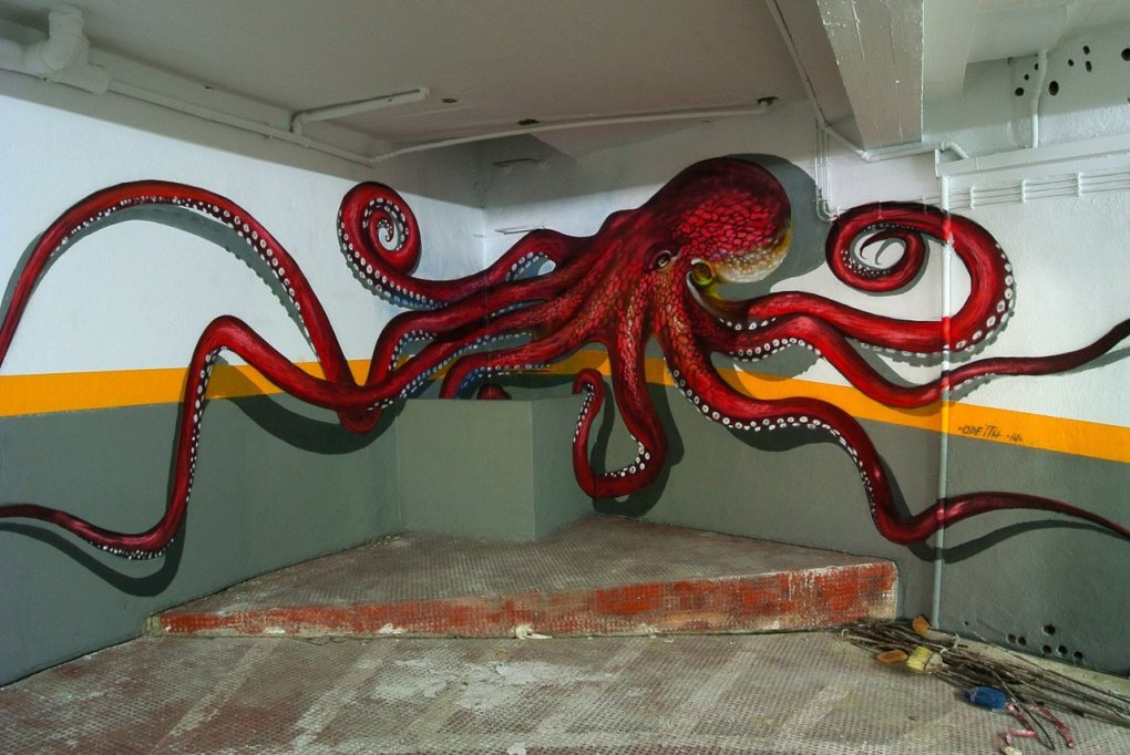 octopus - street art from around the world by sergio odeith