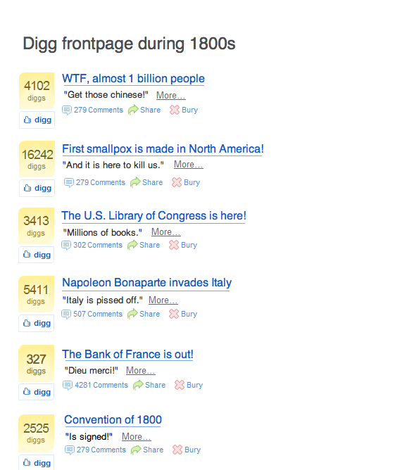 picture 3 - digg frontpage during 1800s