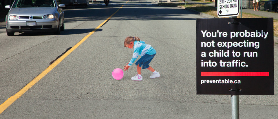prevention 3d - 3d illusion on the road to slow down traffic