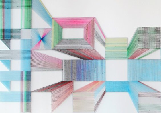 qqf9r3t - texas artist deconstructs sarape blankets and creates these amazing geometric patterns from the threads