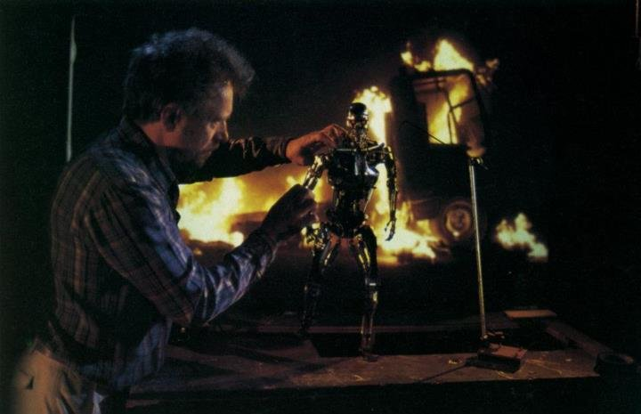 the terminator - that's a cool set of old horror movie pics made behind the scenes
