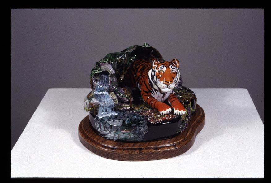 tranquility - this talented artist creates increadible glass portrais