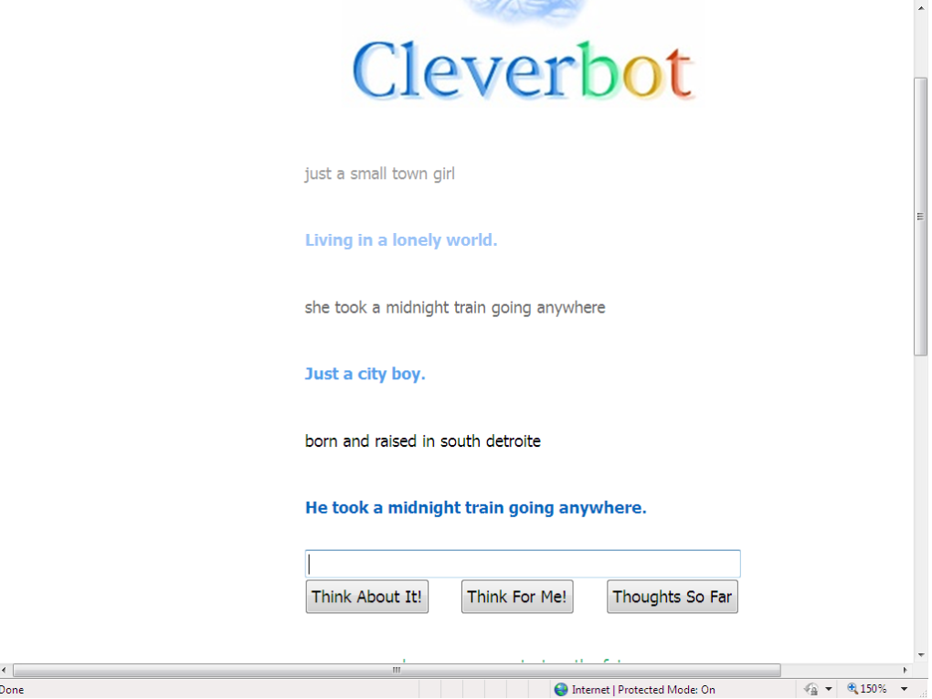 untitled - did you know clever bot can sing???