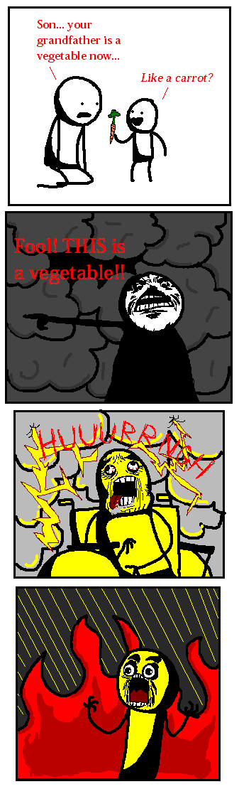 vegetable - you laugh you lose - comic style