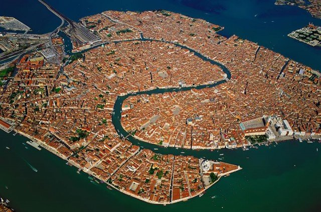 venice - amazing birds eye view