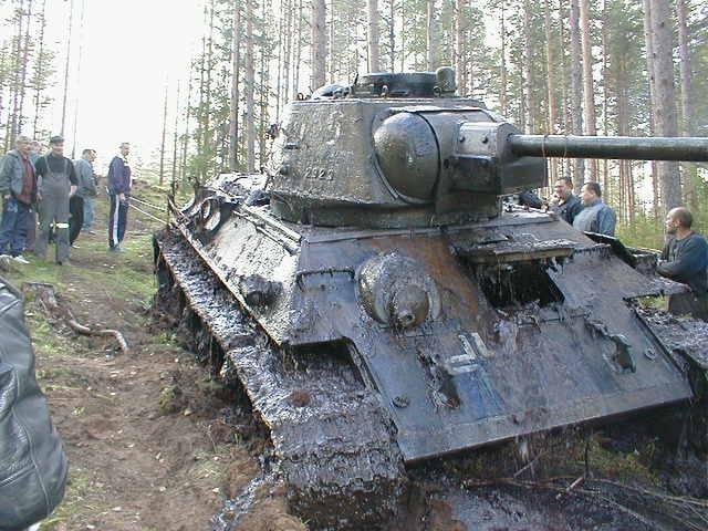 waye7jo - soviet ww2 tank with german markings pulled from a lake in estonia