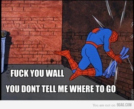 wall 2 - spider-man meme