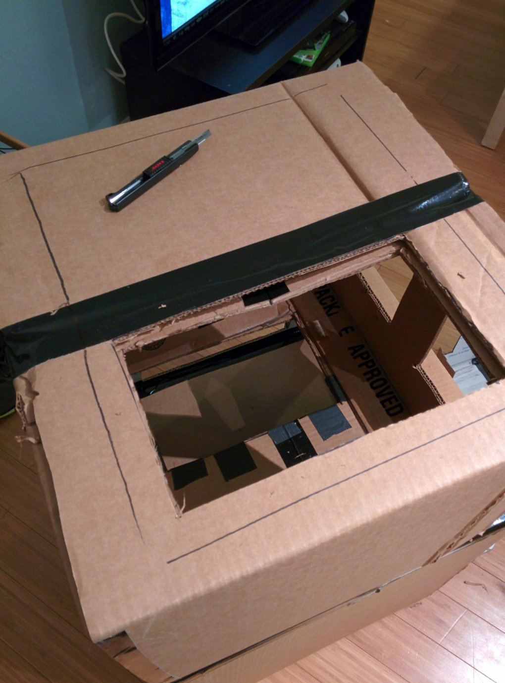 x3tmpey - why don't we build cardboard castle to our cats? this is how to do it.