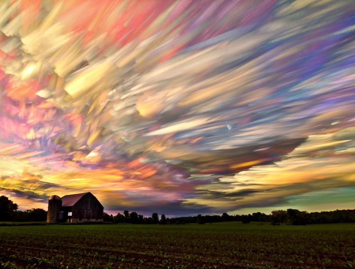 ypawohb - beautiful smeared sky created from hundreds of stacked photos