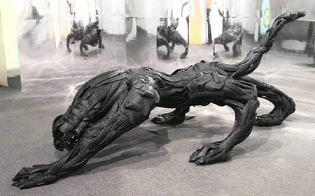 a409 t5 - sculptures made of tires