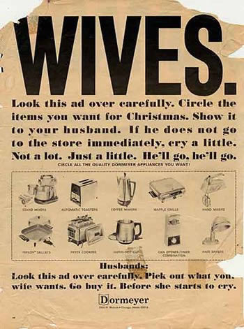 a96674 wiveslook - funny sexist old ads