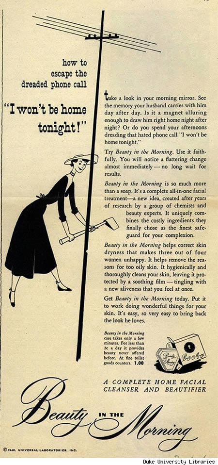 a96674 wontbehome - funny sexist old ads