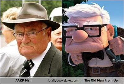aarp man totally looks like man from