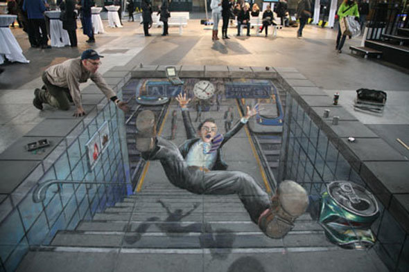 accident2 - amazing 3d street art by julian beever