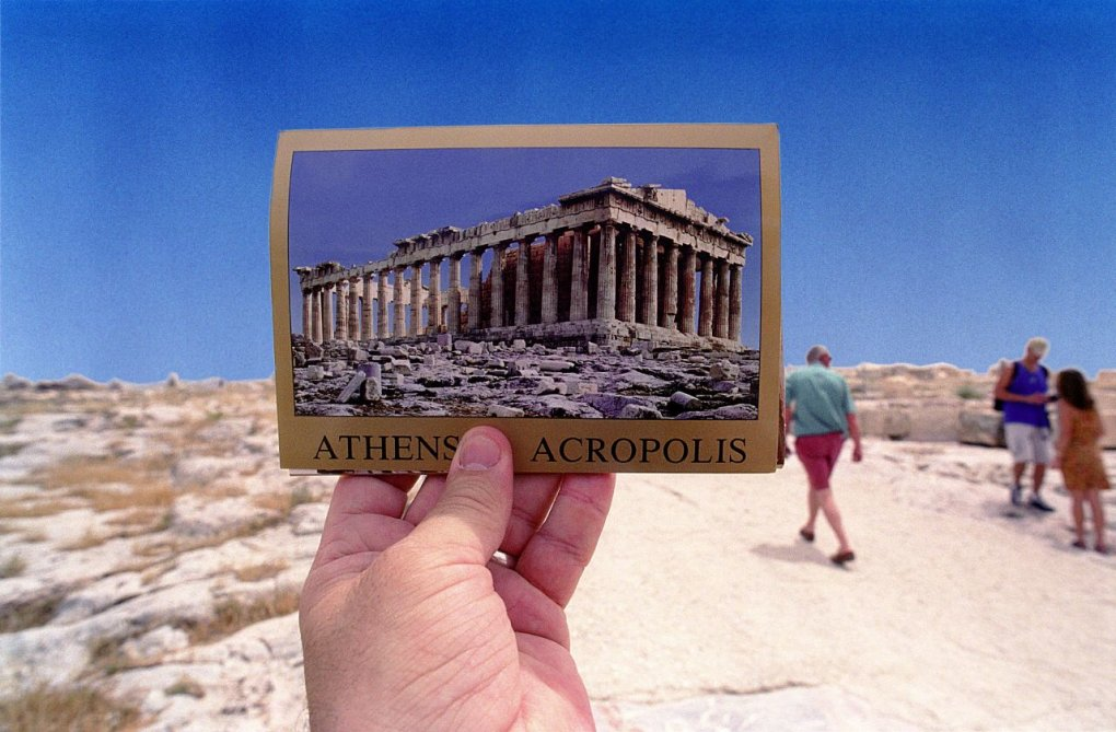 acropolis - are souvenirs out of sight?